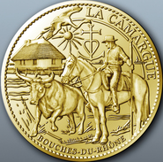 13 BOUCHES DU RHÔNE LA CAMARGUE MÉDAILLE ARTHUS BERTRAND 2012 JETON TOURISTIQUE MEDALS TOKENS COINS MONNAIE - Arthus Bertrand