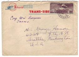 Cover / PostmarkSoviet Union 1932 Zeppelin - Globe - Airplanes