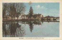 """CPA FRANCE 25 """"Quingey, La Promenade Sur Les Bords De La Loue"""" - France"""