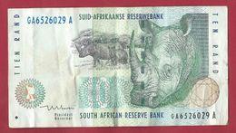 ♛ Billet AFRIQUE DU SUD 10 Rand - Bel état ♛ - Afrique Du Sud