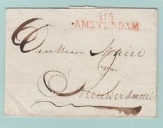Dép3 Départements Conquis Zuidersee/Zuyderzee 118 Amsterdam 47mm (Sans Dates) - Marcofilie (Brieven)