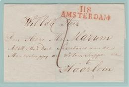 Dép3 Départements Conquis Zuidersee/Zuyderzee 118 Amsterdam 47mm (Sans Dates) Taxe 2d Pour Haarlem - 1792-1815 : Departamentos Conquistados