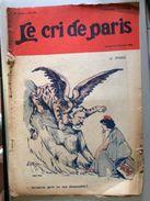 Le Cri De Paris Le Sphinx Pub Pneu Hutchinson Mich Fevrier 1924 - Sonstige
