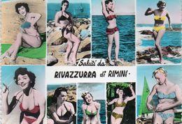RIVAZZURRA DI RIMINI , Saluti  Da , Donnine - Rimini