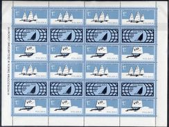 POLAND 1978 Ice Sailing Championship In Complete Sheetlet  Of 8 Pairs MNH / **.  Michel 2541-42 Kb - Blocks & Sheetlets & Panes