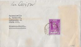 1942 TEHERAN → Letter From Teheran To Tchecoslovaquie/Praha, Par Avion - Iran