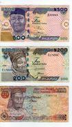 NIGERIA 100, 200, 500 NAIRA 2004 ANNO RARO ANNEE RARE YEAR PETROLIO OIL PETROLE CATTLE BETAIL MAIS PAPAYE COCOA CACAO - Nigeria