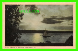 CAPE BRETON, NOVA SCOTIA - SYDNEY HARBOUR BY MOONLIGHT - ANIMATED SHIP - PECO - - Cape Breton