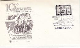 Argentina 1961 10th Anniversary Base General San Martin 1v  FDC (36407) - FDC