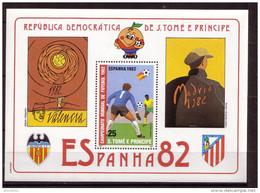 Soccer World Cup 1982 - SAO TOME - S/S De Luxe MNH** - Coupe Du Monde