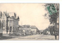 CPA 59 Sainghin En Malantois Route De Saint Amand Et Le Train Tramway Ligne De St Amand Hellemmes - Andere Gemeenten