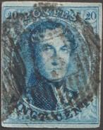 Belgique 1858 COB 11A, 20 C Médaillon Arrondi. D 75 Annevoie - Postmarks - Lines: Distributions