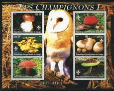 CONGO - World Scout Emblem, Owls, Mushrooms  S216 - Scouting
