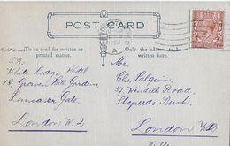 1923 POST CARD → London W.2 To London W.12 - 1902-1951 (Könige)