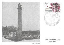Carte Maximum Fdc,france, 40 Ans Du Débarquement Des Alliés, 10/6/84 Oradour Sur Glane, N°2313 - 1980-89