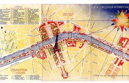 PLAN DE L'EXPOSITION INTERNATIONALE 1937  Offert Par Les Grands Magasins Du Louvre - Europe