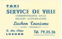 Carte Commerciale - Taxi Service De Ville, Luchon Tourisme, Sarl Pédussaut - Publicités