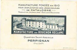 Carte Commerciale - Manufacture Du Bouchon Réclame, Perpignan - Publicités
