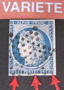 LOT DF/239 - CERES N°4a Bleu Foncé - ETOILE MUETTE - VARIETE ☛ FILET SUD DEFORME ET BRISE - 1849-1850 Cérès