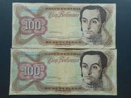Venezuela 100 Bolivares 1992 (Lot Of 2 Banknotes) - Venezuela
