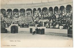 Salida Del Toro Tauraumachie Torero Edit V.B. Cumbo No 2 Corrida Stamped From Algeciras To Tanger Legacion Alemana - Gibraltar