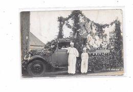Carte Photo à Localiser : Souvenir De La Fêt Ascension 30 Mai 1939  Char Des Reines, Camion Ancien - Cartes Postales