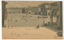 Livorno Piazza Vittorio Emanuele Tram   To Max Claass German Consulate Napoli Edit Rommler Jonas Dresden 1902 - Livorno