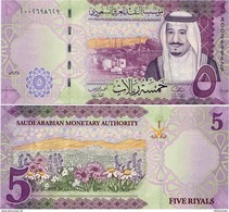 SAUDI ARABIA       5 Riyals       P-New       2016 / AH1438       UNC - Arabia Saudita