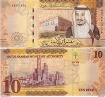 SAUDI ARABIA       10 Riyals       P-New       2016 / AH1438       UNC - Arabia Saudita
