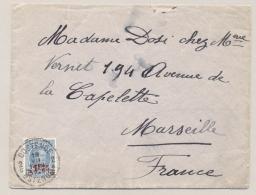 België - 1928 - 1,75Fr Opdruk Op 1,5Fr Houyoux Op Cover Van Oostende Naar Marseille / France - 1922-1927 Houyoux