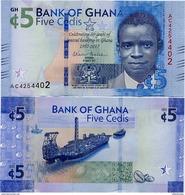 GHANA       5 Cedis       Comm.       P-43       4.3.2017       UNC - Ghana