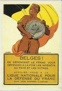 BELGIQUE - Carte N° 56 Du SOIR -- Ligue Nationale Pour La Défense Du Franc. - Monnaies (représentations)