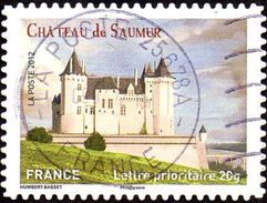 Oblitération Cachet à Date Sur Autoadhésif De France N°  717 - Château De Saumur - France