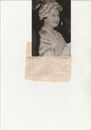 PHOTO AGENCE DIFFUSION PRESSE - LA REINE MERE D'ANGLETERRE AU CHATEAU  D'ARTIGNY -VAL DE LOIRE  -16-4-1963 - Personalidades Famosas