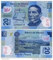 MEXICO        20 Pesos     P-122[i]       23.1.2012       UNC  [sign. Del Cueto] - Messico