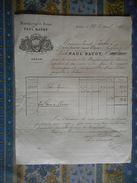 FACTURE 1887 PAUL BACOT MANUFACTURE DE DRAPS A SEDAN - France