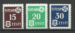 Estland Estonia 1941 Dt. Okkupation Dorpat Tartu Michel 1 - 3 X (thick Paper) MNH - Besetzungen 1938-45