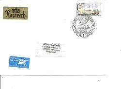 Israel ( Lettre Par Avion De 1997 De Nazareth Vers Les Pays-Bas Avec Timbre De Distributeur à Voir) - Covers & Documents