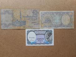 Egypte 5,10,25 Piastres 1998,2006 (Lot De 3 Billets) - Egypte