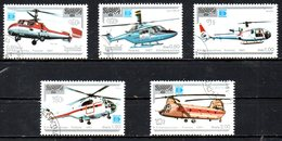 KAMPUCHEA. N°759-63 Oblitérés De 1987. Hélicoptères/Hafnia'87. - Helikopters