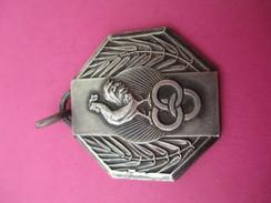 Médaille De Sport/ Coq Olympique Avec Anneaux/ Bronze Nickelé/Fête Des Sports/PONTOISE/ / 1957           SPO185 - Deportes