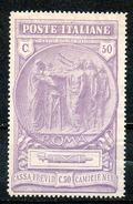 ITALIE (Royaume) - 1923 - N° 141 - (Au Profit De La Caisse De Prévoyance Des Chemises Noires) - 1900-44 Vittorio Emanuele III