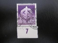 Deutsches Reich Nr. 818 Unterrand Gestempelt (B42) - Allemagne