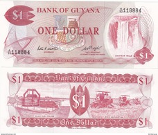 Guyana - 1 Dollar 1983 Pick 21e UNC Lemberg-Zp - Guyana