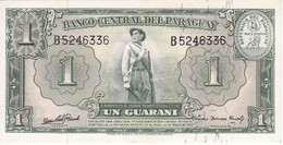 BILLETE DE PARAGUAY DE 1 GUARANI DEL AÑO 1952 EN CALIDAD EBC (XF)  (BANKNOTE) PICK 185 - Paraguay
