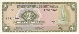 BILLETE DE NICARAGUA DE 2 CORDOBAS DEL AÑO 1972 SIN CIRCULAR-UNCIRCULATED  (BANK NOTE) - Nicaragua