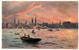 Hamburg, Künstlerkarte, Prof. Willy Stöwer, Ca. 30er Jahre - Deutschland