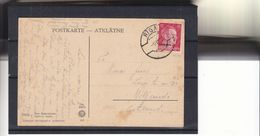 Allemagne - Ostland - Lettonie - Carte Postale De 1942 - Oblit Riga - Hitler - Exp Vars Viljandi En Estonie - Occupation 1938-45