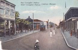 MOZAMBIQUE Colonie PORTUGAISE  Capitale LOURENCO MARQUES Animaçào RUA CONSIGLIERI Bonde Lojas - Mozambique