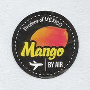 # MANGO MEXICO BY AIR Fruit Sticker Label, Etichette Etiquettes Etiquetas Adhesive Aufkleber Fruta Frutta Frucht - Fruits & Vegetables